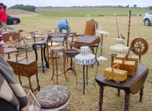 A typical 'Field Brocante' outside the village of Villefagnan